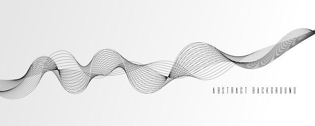 ベクトルイラスト抽象的なワイヤフレームの背景のグラデーションと輝くモノクロのカラースタイル