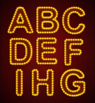 ベクトルレトロなアルファベットセット。