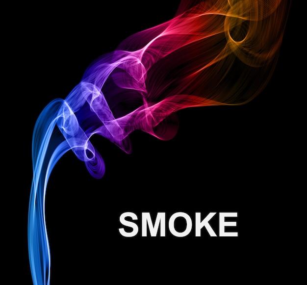 黒のベクトルの背景に煙します。
