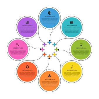 ビジネスオプションのインフォグラフィック。