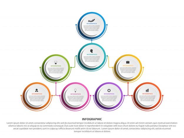 Шаблон диаграммы организации инфографики.
