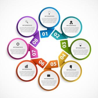 ビジネスプレゼンテーションのインフォグラフィック