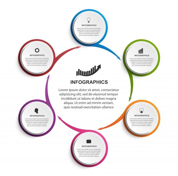 プレゼンテーション用のインフォグラフィックテンプレート。