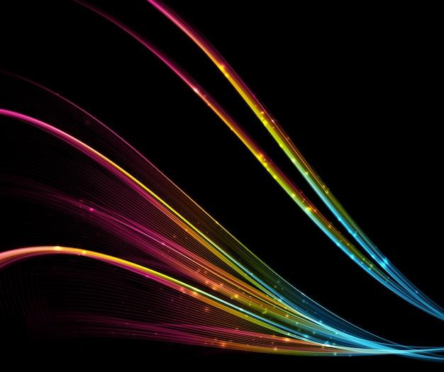 抽象的な光波の未来的な背景。