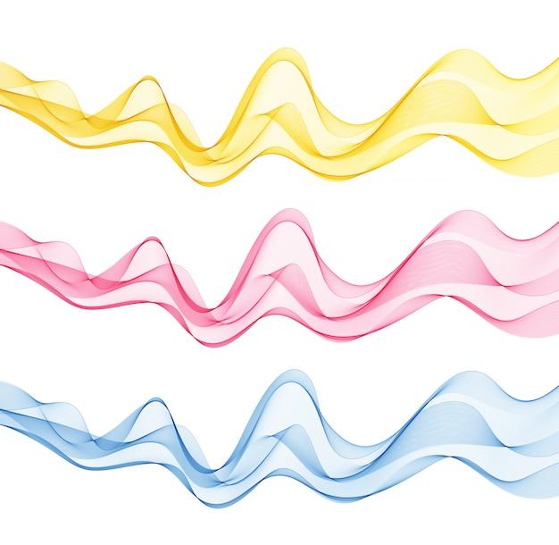 Абстрактные фоны с разноцветными волнами.