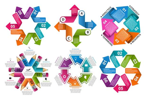インフォグラフィック要素のコレクション。