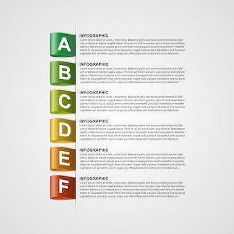 Творческая инфографика с красочными этикетками.