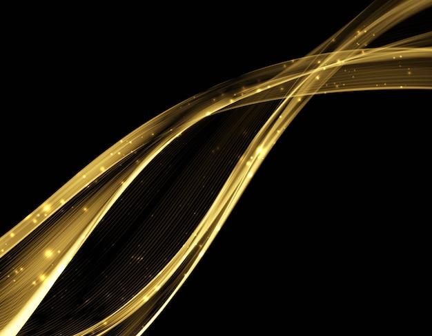 Абстрактный световой волны футуристический фон.