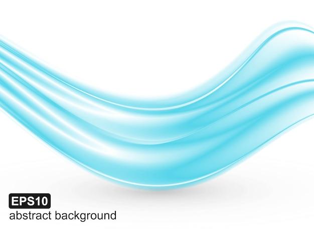 抽象的な青い波背景。