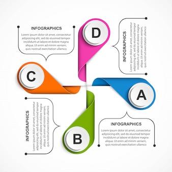 ビジネスオプションのインフォグラフィック、タイムライン。