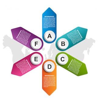 Бизнес варианты инфографики, график, дизайн шаблона.