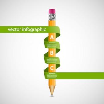 教育のインフォグラフィックデザインテンプレートです。