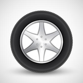 Значок колеса автомобиля