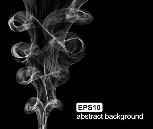 抽象的な煙のベクトルの背景。