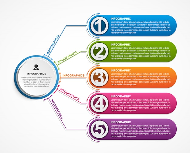 Шаблон диаграммы организации инфографики дизайн.
