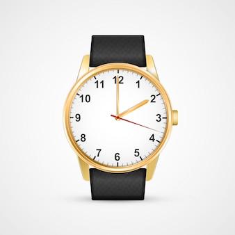 古典的なデザインの腕時計。