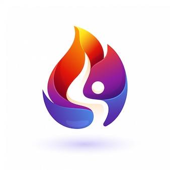 カラフルな火の人々