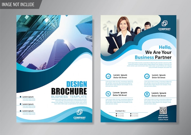 アニュアルレポートのデザインカバーチラシとパンフレットのビジネステンプレート
