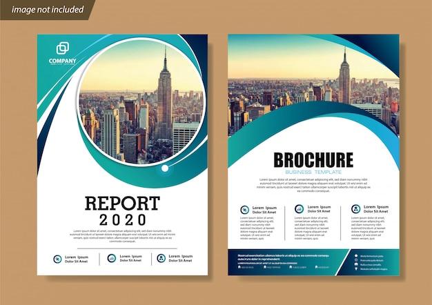 Обложка флаера и брошюра бизнес шаблон для годового отчета