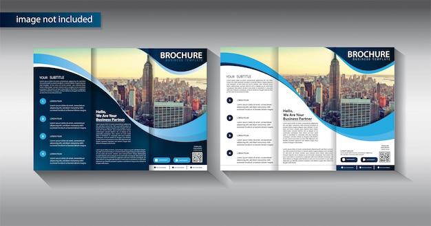 プロモーションマーケティング会社のパンフレットビジネステンプレート