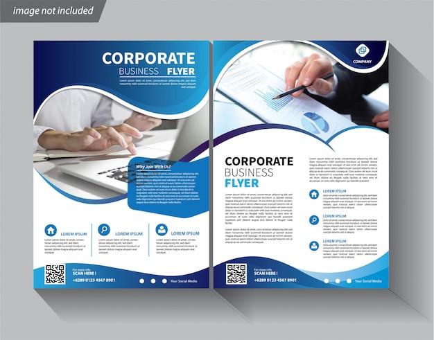 Бизнес шаблон для флаера корпоративного