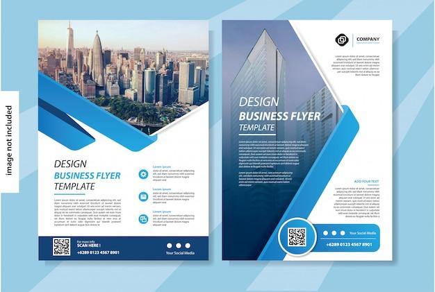 Флаер шаблон для макета брошюры или годового отчета