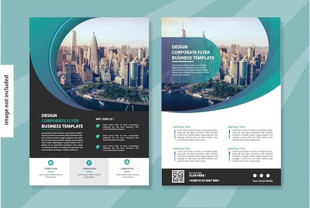 Флаер бизнес шаблон для обложки корпоративной брошюры