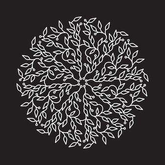 抽象的なホワイトカラーのロゴデザイン