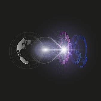 点線の地球儀