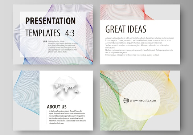 プレゼンテーションスライド用のビジネステンプレートのセット