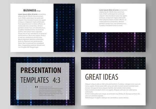 プレゼンテーションスライドのビジネステンプレート