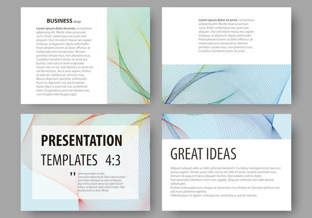 プレゼンテーションスライドのビジネステンプレートのセット。
