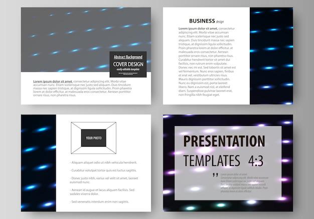 プレゼンテーションスライドのビジネステンプレート。