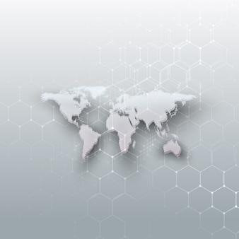 Карта мира с белыми точками