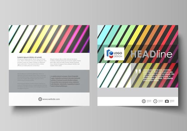 正方形のパンフレットのビジネステンプレート
