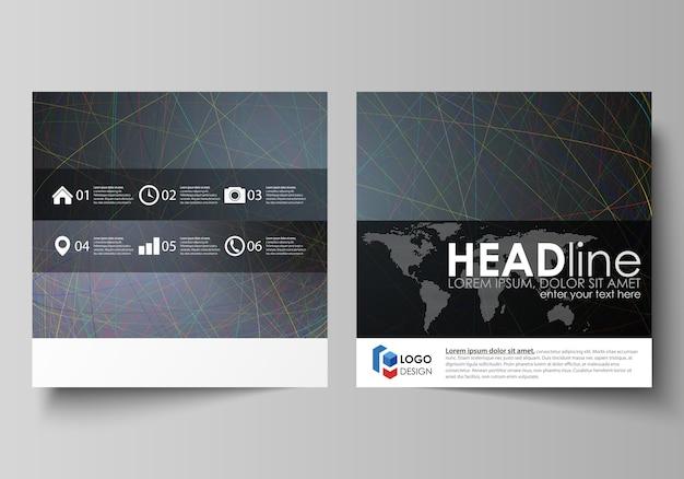 正方形デザインパンフレットのビジネステンプレート