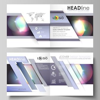 Бизнес-шаблоны для квадратной складной брошюры