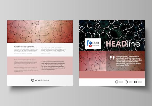 Бизнес-шаблоны для квадратного дизайна брошюры