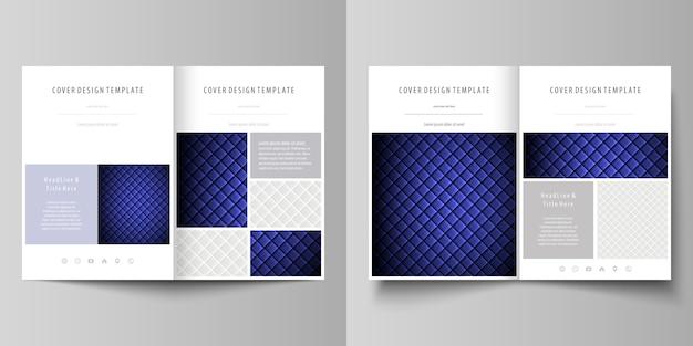 二つ折りパンフレットのビジネステンプレート