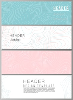 Векторный макет заголовков, шаблоны дизайна баннеров.