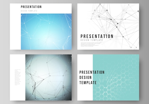 プレゼンテーションの抽象的なレイアウトは、ビジネステンプレートをスライドさせます
