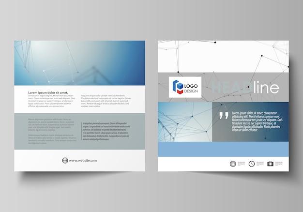 正方形パンフレットのビジネステンプレート