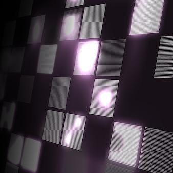 視点で抽象的なハイテク灰色の背景。未来のデジタル技術の背景