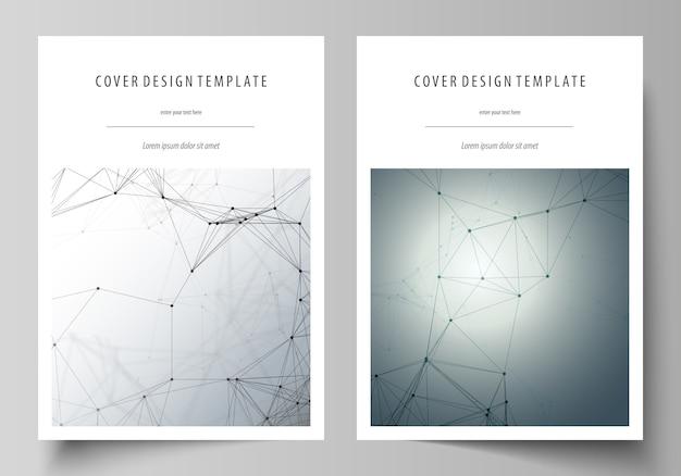 Шаблон бизнес-обложки с генетическими и химическими соединениями