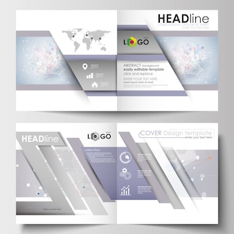 Бизнес-шаблоны для квадратного дизайна брошюры, журнал, листовка, буклет.