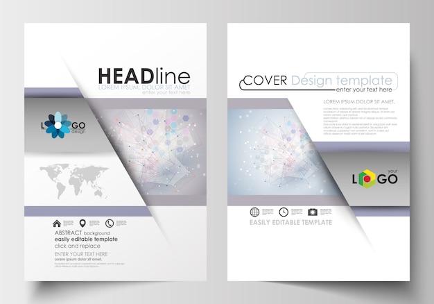 Бизнес-шаблоны для брошюры, журнала, флаера. шаблон оформления обложки
