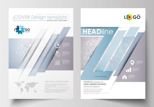 Бизнес-шаблоны для брошюры, журнала, флаера, буклета. шаблон оформления обложки