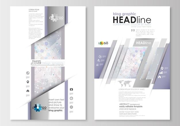 ブログのグラフィックビジネステンプレート。ページのウェブサイトのデザインテンプレート
