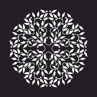 抽象的な白い色のロゴデザイン、黒の背景に分離テンプレート