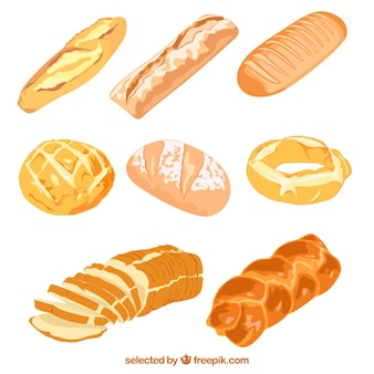 Иллюстрированный вкусный хлеб